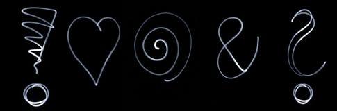 Set różni flourescent symbole Fotografia Stock