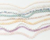 Set różni gemstones koraliki w lekkich kolorach Fotografia Stock
