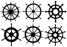 Set różni rudders Obrazy Royalty Free