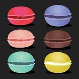 Set różni smaków macaroons Zdjęcia Stock