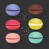 Set różni smaków macaroons Obraz Royalty Free