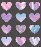 Set różni tekstur serca royalty ilustracja