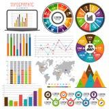 Set różnorodni biznesowi infographic elementy Obraz Royalty Free