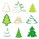 Set 9 różnych drzew Royalty Ilustracja