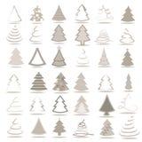Set 36 różnych drzew Royalty Ilustracja