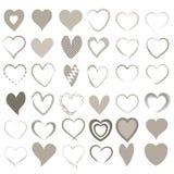 Set 36 różnych serc Royalty Ilustracja