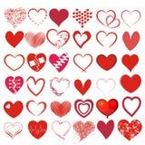 Set 36 różnych serc Ilustracja Wektor