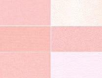 Set różowe granulacyjne tekstury zdjęcie royalty free