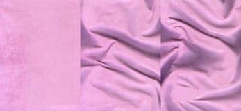 Set różowe zamszowy skóry tekstury zdjęcie royalty free