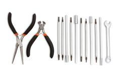 Set ręk narzędzia. Zdjęcia Royalty Free