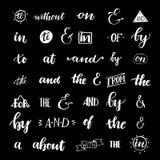 Set ręk wytłoczeni ampersands slogany i Zdjęcia Stock