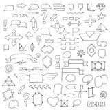 Set ręka rysująca doodle mowa gulgocze i podpisuje Zdjęcia Royalty Free