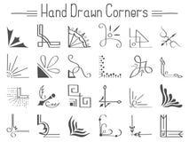 Set 24 ręka rysującego kąta i projektów elementy Obrazy Stock