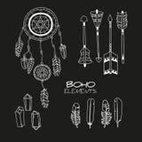 Set ręka Rysujący Boho elementy Obraz Stock