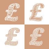 Set ręka rysujący dolary royalty ilustracja