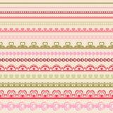 Set ręka rysujący koronkowego papieru poncz graniczy Fotografia Stock