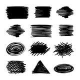 Set ręka rysujący kształty Fotografia Stock