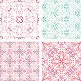 Set ręka rysujący kwiecisty wzór Zdjęcie Royalty Free