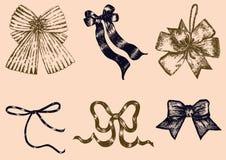 Set ręka rysujący wektor łęki Zdjęcie Stock