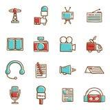 Set ręki rysować dziennikarstwo ikony ilustracji