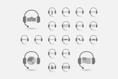 Set ręki uwalnia słuchawki z polityka, demokracja, dyplomacja ilustracja wektor