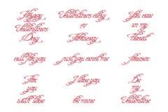 Set ręcznie pisany kaligraficzne inskrypcje dla walentynka dnia Fotografia Royalty Free