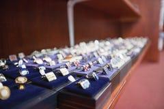 Set ręk cufflinks na pokazie Fotografia Royalty Free