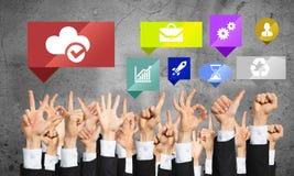 Set ręk ikony i gesty Obraz Stock