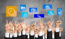 Set ręk ikony i gesty Zdjęcie Stock