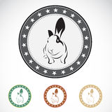 Set of  rabbit label Royalty Free Stock Photos