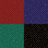 Set Rabbit Polka dot Background. Vector Illustration Royalty Free Stock Image
