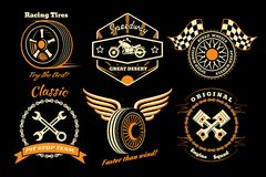 Set of racing badge Stock Image
