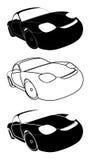 Set of racing cars - Stock Illustration Royalty Free Stock Photo