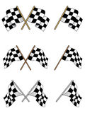 Set of racing checkered flags. For sports design Royalty Free Stock Image