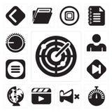 Set radar, Stopwatch, niemowa, odtwarzacz wideo, Na całym świecie, pominięcie, Ja ilustracji
