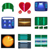 Set of radars screen. Vector illustration for your design Royalty Free Stock Photography