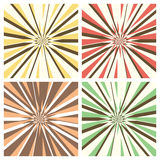 Set of Radial Sunburst Backgrounds Stock Images
