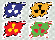 Set of Radiation Symbols Stock Photo