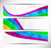 Set of rainbow banners Royalty Free Stock Images