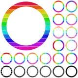 Set of rainbow circle logo designs. Set of rainbow circle logo icon designs Royalty Free Stock Photography