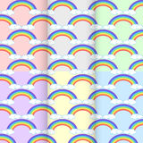 Set rainbow cloud. seamless pattern abstract. on background colo Royalty Free Stock Photography