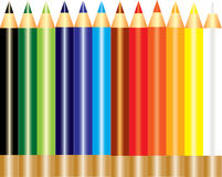 A set of rainbow color pencil Stock Photos