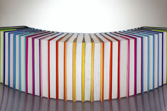 Set of rainbow colored books Royalty Free Stock Photography