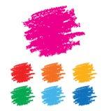 Set of Rainbow Hand Drawn Grunge backgrounds. Stock Photography