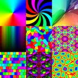 Set of rainbow pattern textures Stock Photography