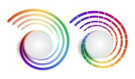 Set of rainbow round banners with place for text. The object is separate from the background. Vector element for infographics. Sites and your design vector illustration
