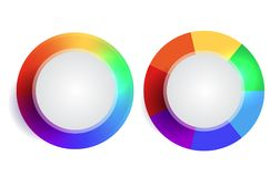 Set of rainbow round banners with place for text. Vector element for infographics, sites and your design Stock Photography