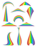 Set of 12 rainbow. Vector illustration Royalty Free Stock Photography