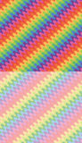 Set of rainbow waves backgrounds Royalty Free Stock Image