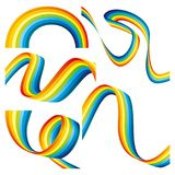 Set of rainbows. Royalty Free Stock Images